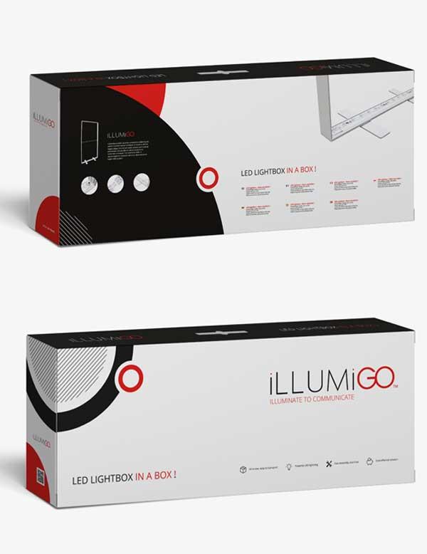 Опаковка на преносима LED стена